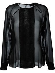 плиссированная блузка с оборками Nili Lotan