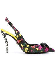 туфли с цветочным принтом Versace