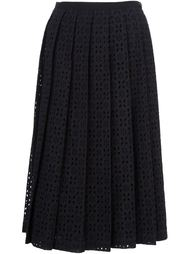 broderie anglaise pleated skirt Comme Des Garçons Tricot