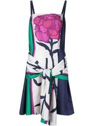 flower print draped detail dress  Tanya Taylor