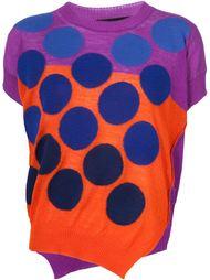 block colour knit top Comme Des Garçons Tricot
