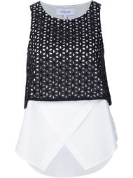 broderie anglaise layered top  Derek Lam 10 Crosby