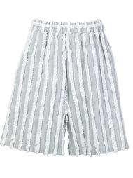textured bermuda shorts Facetasm