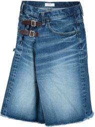 buckled denim shorts Facetasm