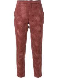 укороченные брюки с мелким принтом Scanlan Theodore