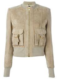 кожаная куртка на молнии Balmain