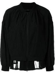 sheer hem bomber jacket Y's