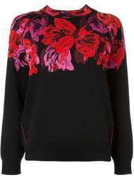свитер с принтом-интарсией роз Lanvin