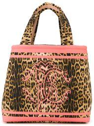 сумка-тоут с леопардовым принтом Roberto Cavalli