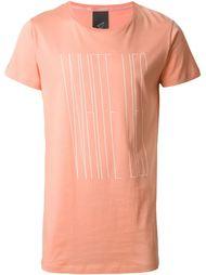 askew front print T-shirt Odeur