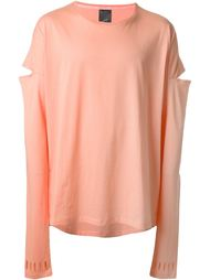 cut-out longsleeved T-shirt Odeur