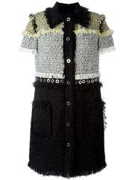 твидовое платье на пуговицах Lanvin