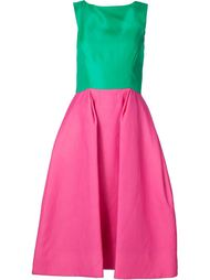 full skirt flared boat neck dress Monique Lhuillier