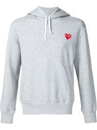heart application hoodie Comme Des Garçons Play