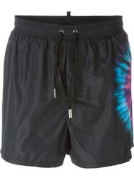 tie-dye detail swim shorts Dsquared2 Beachwear