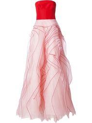 пышное вечернее платье без бретелек Monique Lhuillier