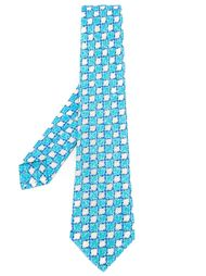 houndstooth print tie Kiton