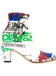 ботинки по щиколотку с принтом Vivienne Westwood
