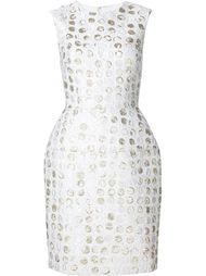dot pattern structured dress Monique Lhuillier