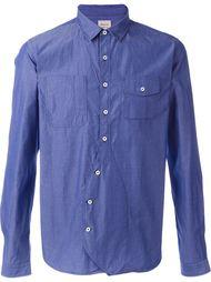 рубашка с нагрудными карманами Wooster + Lardini