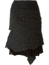 фактурная юбка со шлейфом Sacai