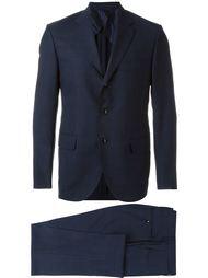 check plaid notched lapels suit Mp  Massimo Piombo