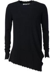асимметричный свитер с необработанными краями   Ziggy Chen