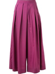 pleated wide leg cropped trousers Muveil