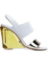 босоножки на контрастном каблуке Monique Lhuillier
