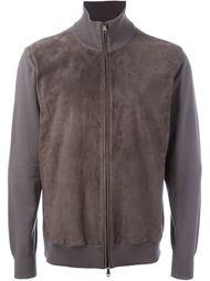 перфорированная куртка на молнии  Brioni