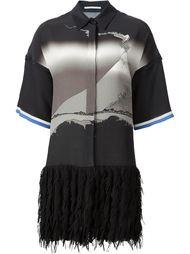 платье-рубашка с бахромой на подоле Marco De Vincenzo