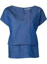 layered denim blouse  Co