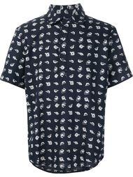 fish print shortsleeved shirt  3X1
