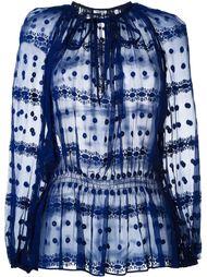 блузка с вышивкой  Cacharel