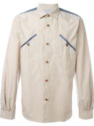 рубашка с контрастной отделкой Junya Watanabe Comme Des Garçons Man
