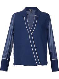 блузка с контрастной окантовкой Thomas Wylde