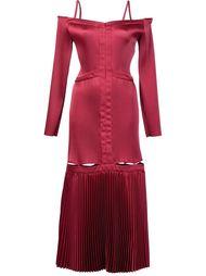 плиссированное платье с открытыми плечами Barbara Casasola