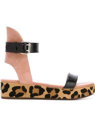 сандалии с леопардовым принтом Francesco Russo