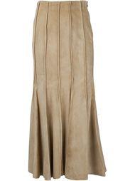 длинная юбка со складками Derek Lam