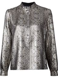 metallic brocade shirt Vanessa Seward