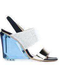 босоножки на массивном каблуке Monique Lhuillier