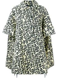 leopard print oversized coat Sibling