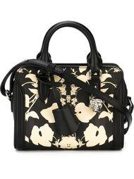 сумка-тоут 'Padlock' мини с цветочным принтом  Alexander McQueen