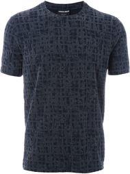 фактурная футболка с эффектом в клетку Giorgio Armani