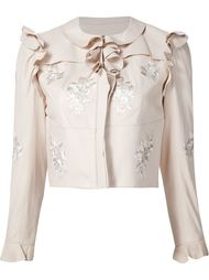 embroidered details jacket Alexander McQueen