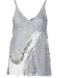 frayed effect tank top Derek Lam