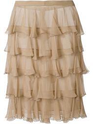 юбка с оборками Balmain
