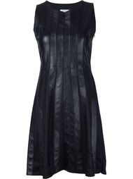 panelled leather dress Beau Souci