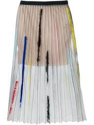 прозрачная плиссированная юбка Aviù