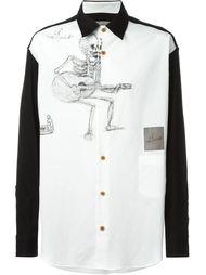 рубашка с принтом скелета Yohji Yamamoto